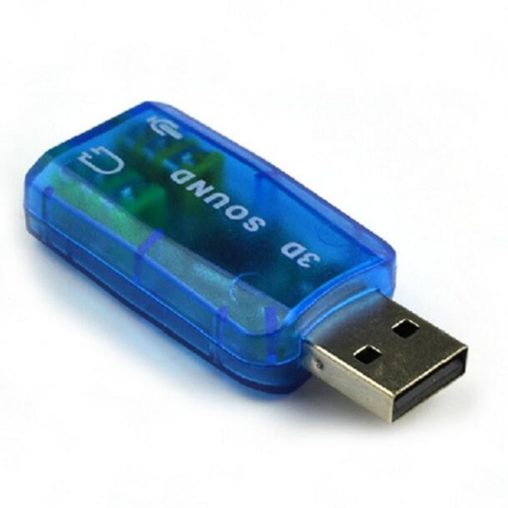 Stereo Headset 5.1CH USB to 3.5mm Headphone 3D Sound Card Audio Adapter Blue Generic STK0151003398