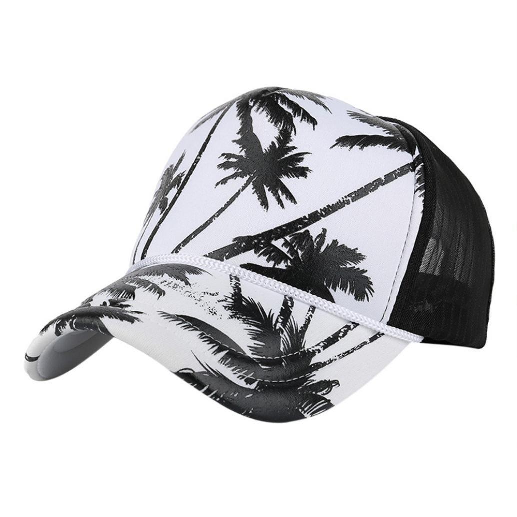 Baseball Cap Mesh Adjustable Snapback Hip Hop Flat Hat for Women Men (Black)