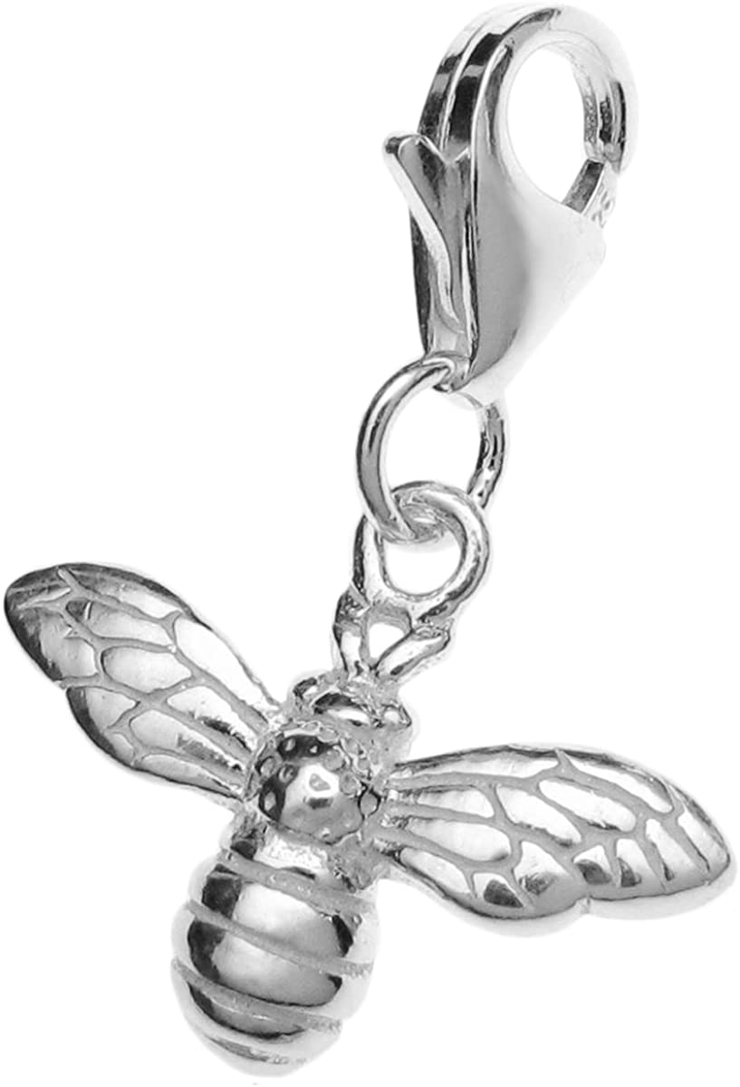 Dreambell 925 Sterling Silver Honey Bee Dangle Clasp European Lobster Clip On Charm