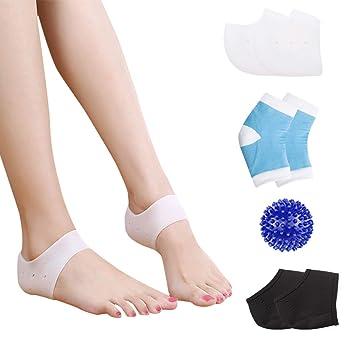 HLYOON Plantar Fasciitis Kit-7PCS Plantar Fasciitis Sleeve Gel Heel Protectors Ankle Brace, Heel