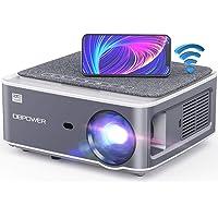 DBPOWER Proyector WiFi Native 1080P, 8500L Full HD para exteriores, compatible con corrección Keystone 4D, zoom, PPT…