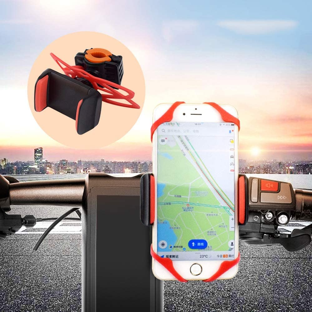 DFEDCLL Bicycle Mobile Phone Bracket Strapping Mountain Electric Bicycle Shockproof Riding Equipment Silicone Mobile Phone Bracket