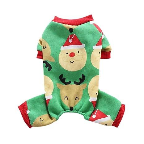 Handfly Pijamas para Perros Mono Ropa para Navidad Perrito Abrigo de Invierno Abrigo para Mascotas Ropa