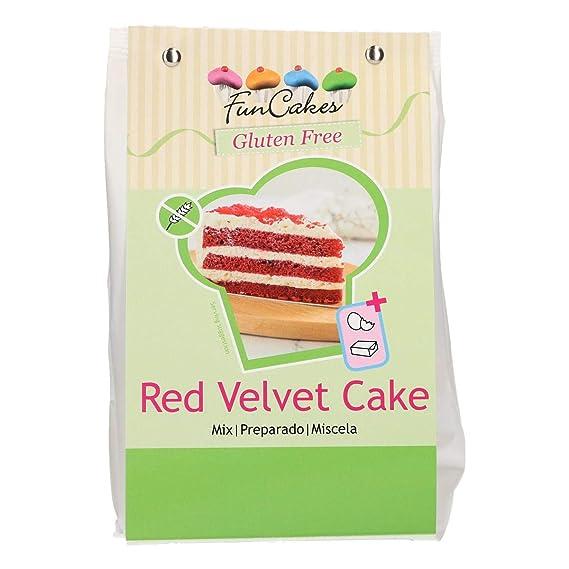 Funcakes - Mezclas preparadas (Bizcocho Red Velvet sin Gluten 400g)