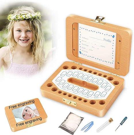 Caja personalizada para dientes de bebés con foto-Grabado sin ...