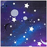 We Love Sundays Galaxy Party Napkins | 20 Pack | Great for Outer Space and Stars & Moon Themed Parties