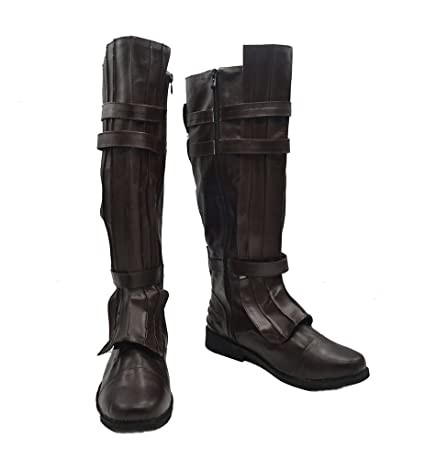 The Force Awakens Anakin Skywalker Darth Vader black ver Cosplay Shoes Boots New
