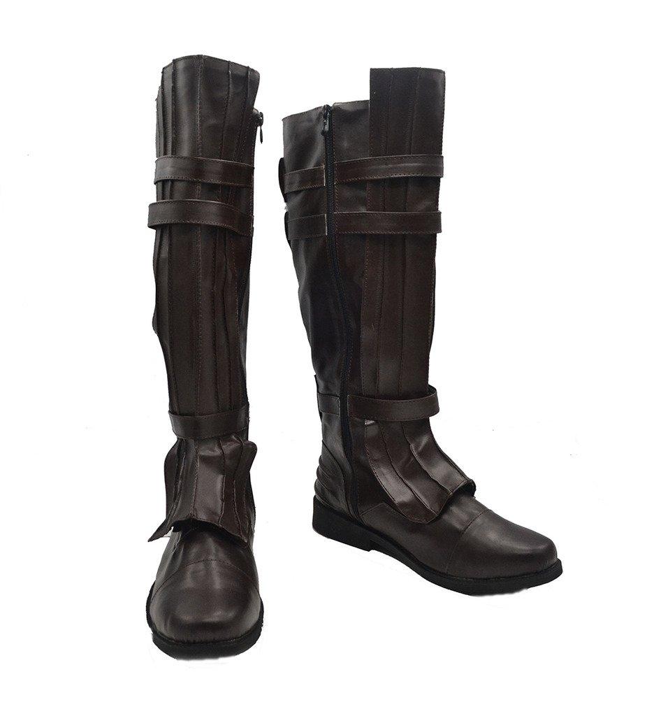 Star Wars Darth Vader Anakin Skywalker Cosplay Shoes Brown Boots Custom Made