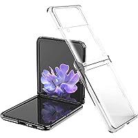 Capa de telefone para Samsung Galaxy Z Flip 3 Capa - Ultra-fina transparente Hard PC Slim Anti-arranhões à prova de…