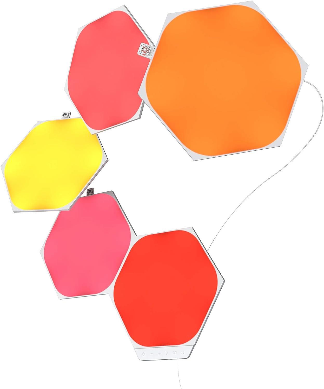Nanoleaf Shapes Hexagons Kit de Démarrage - 5 Panneaux Lumineux