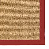 Cheap iCustomRug Natural Fiber Sisal Area Rug Custom Cotton Border Carpet