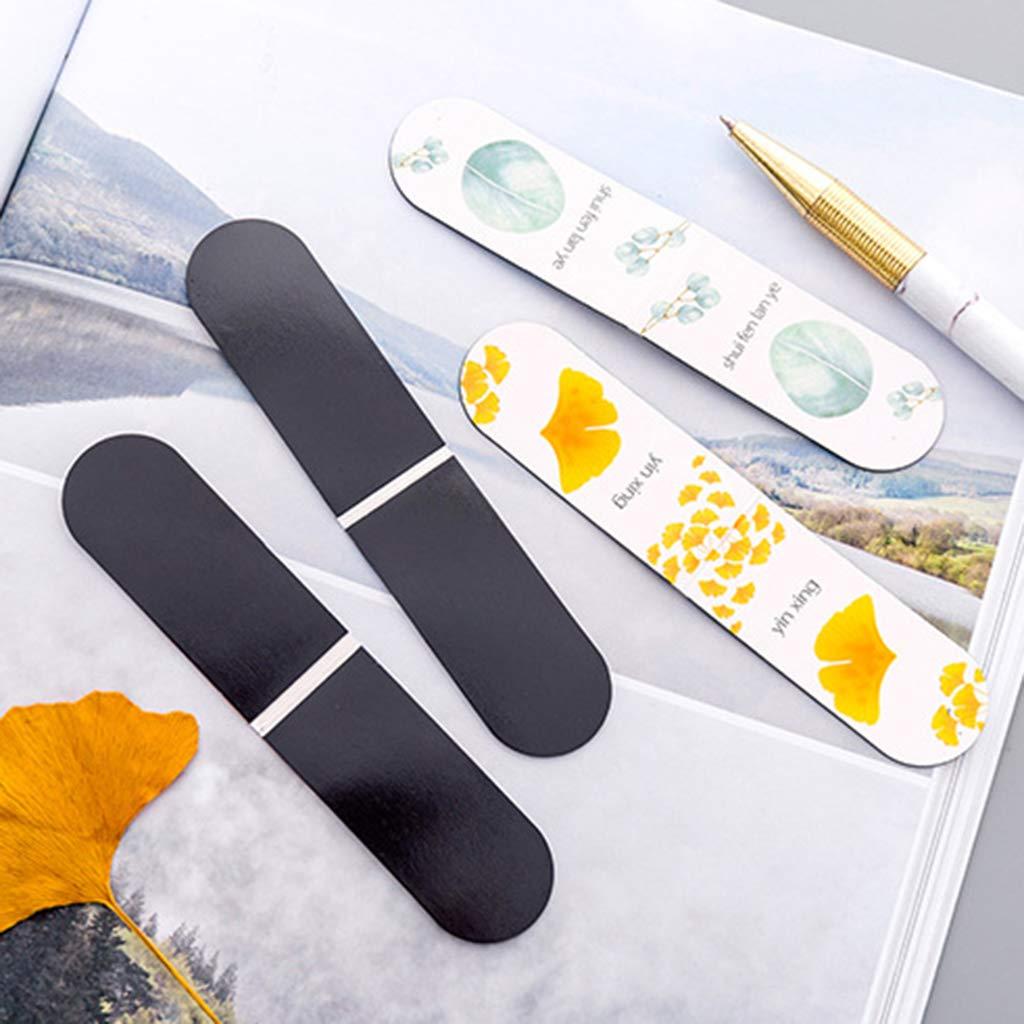 Seluluory 4 pezzi//set Foglia dautunno Pianta semplice Segnalibro magnetico Segnalibro Pagina Clip Forniture per ufficio Cartoleria per studenti Collezione di souvenir Regalo per bambini
