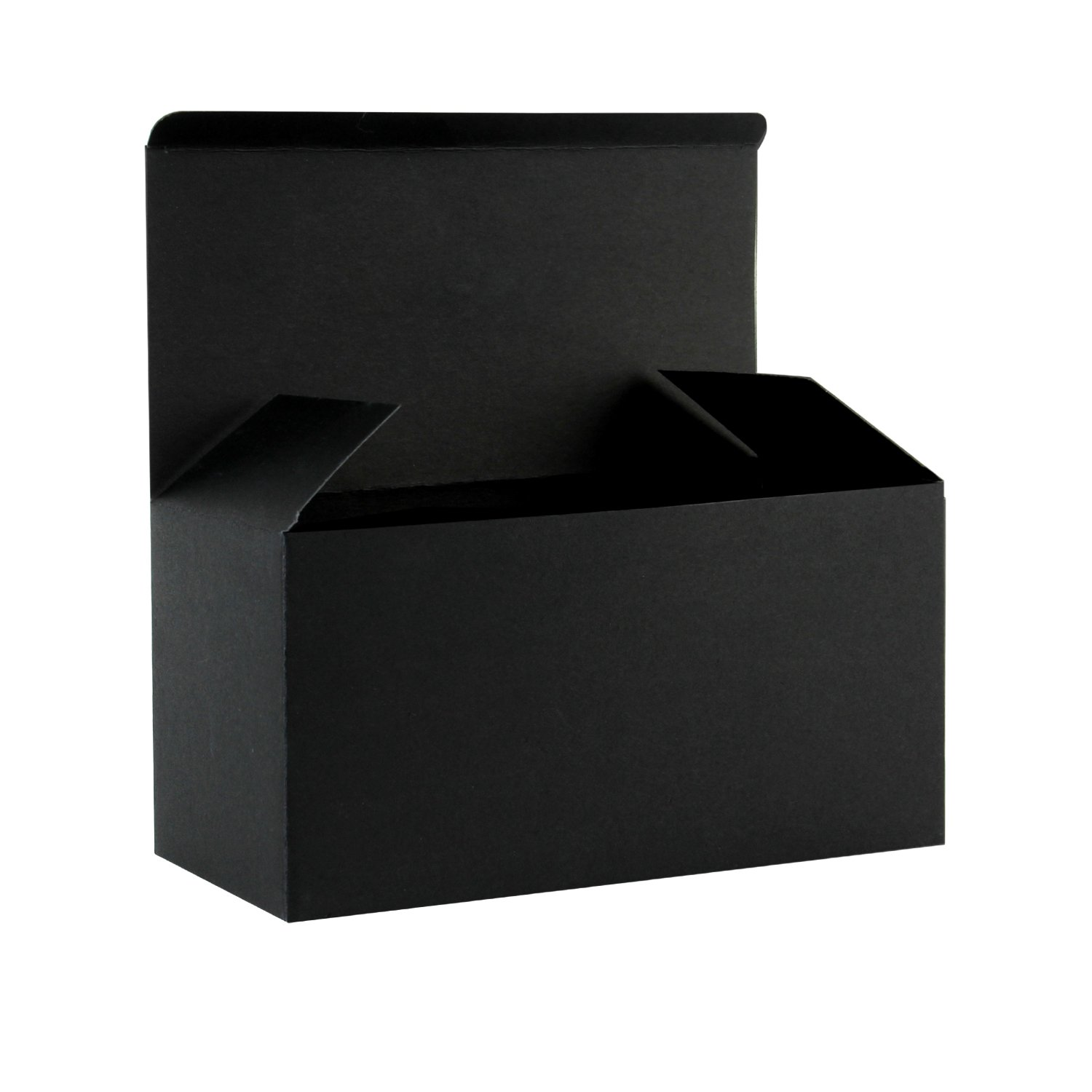 Ruspepa Recycled Cardboard Gift Boxes Decorative Favor Box With Lids For Gifts Party Wedding 9 X4 5 X4 5 30 Pack Black