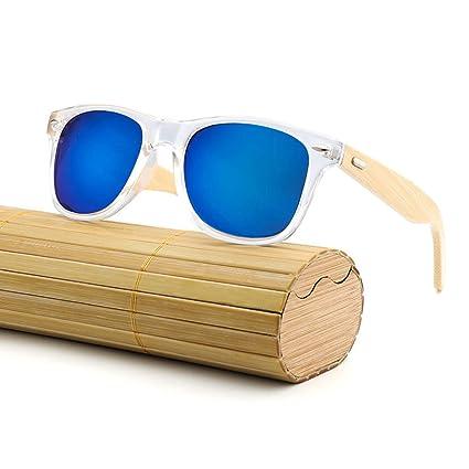 0e088fbc0c RabbitStorm Gafas de Sol de Madera de Bambú con Azul Lente Polarizada de  Protección UV en