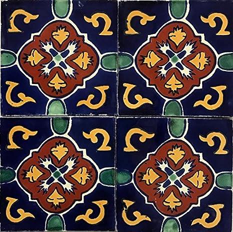 Amazon.com: Talavera para azulejos 6 x 6 pintado a mano ...