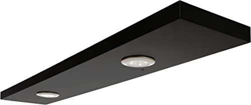 kieragrace Stockholm Aberg Floating w LED Light Black, 48-Inch, Matte Finish Shelf