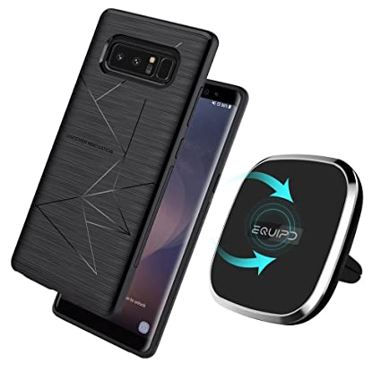 reputable site 78d58 069a2 Qi Wireless Charger with Samsung Galaxy S8 Magic Case Included-Vent Mounted  2-in-1 Magnetic Charging Pad, 360 Degree Rotation, Strong Magnetic Holder  ...