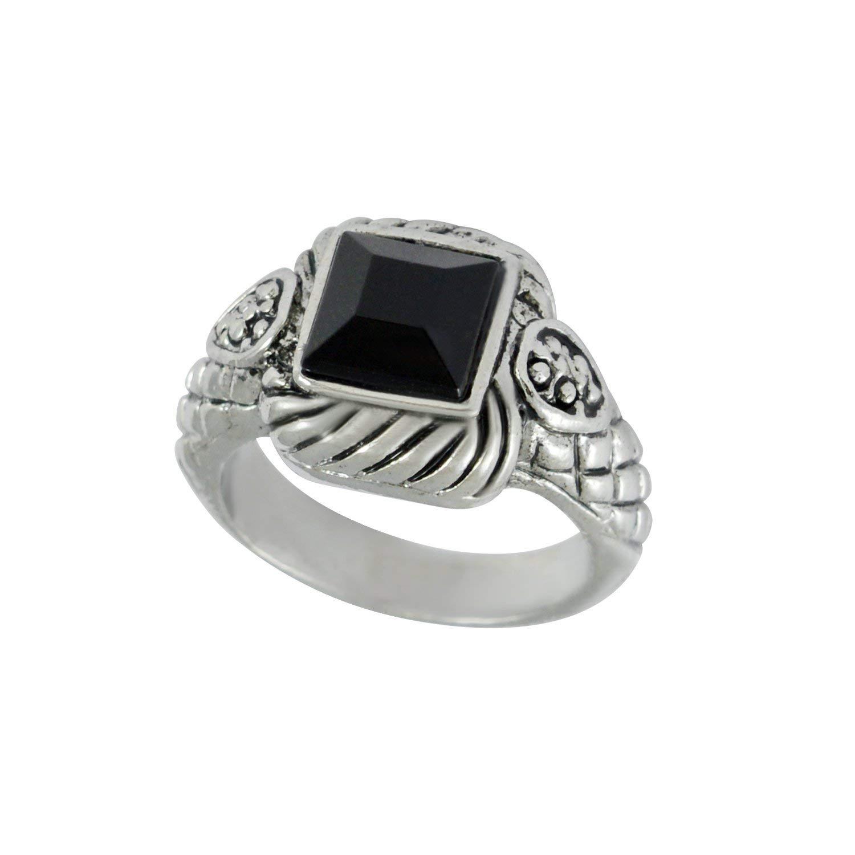 92b2f13979c31 Sarah Black Stone Finger Ring for Men - Silver: Amazon.in: Jewellery