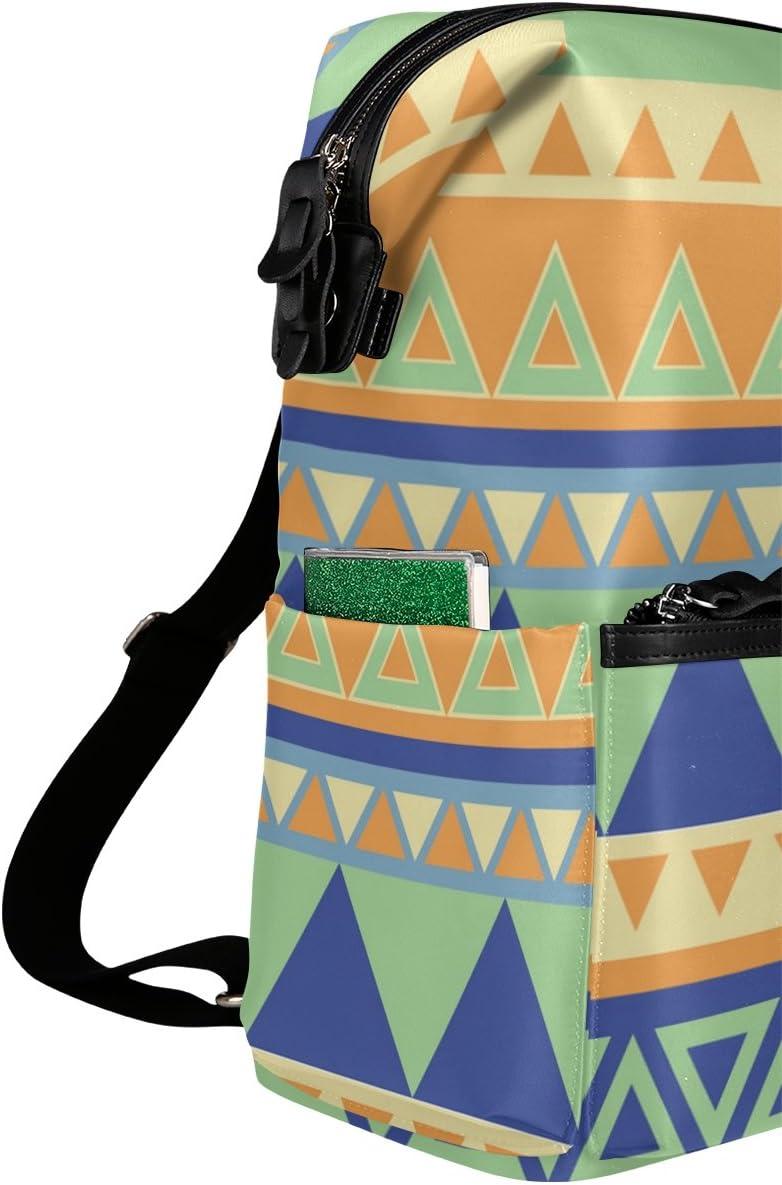 Laptop Backpack Lightweight Waterproof Travel Backpack Double Zipper Design with Boho Three Triangle Texture School Bag Laptop Bookbag Daypack for Women Kids