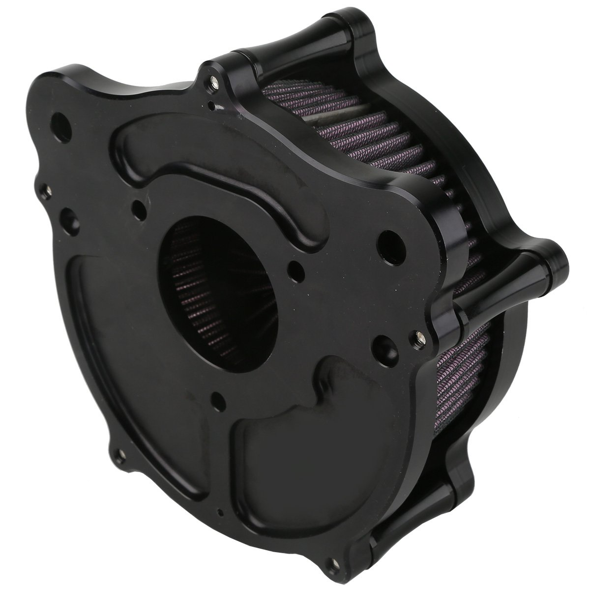 XMT-MOTO Speed-5 CNC Deep Cut Air Cleaner Filter For Harley Touring FLHR FLHT FLHX 2008-2016 by XMT-MOTO (Image #4)