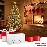 Etekcity Wall Mount Surge Protector with Dual USB Charger, Small Outlet Extender for Travel, 5610 Joules, 1875W/15A, ETL Listed