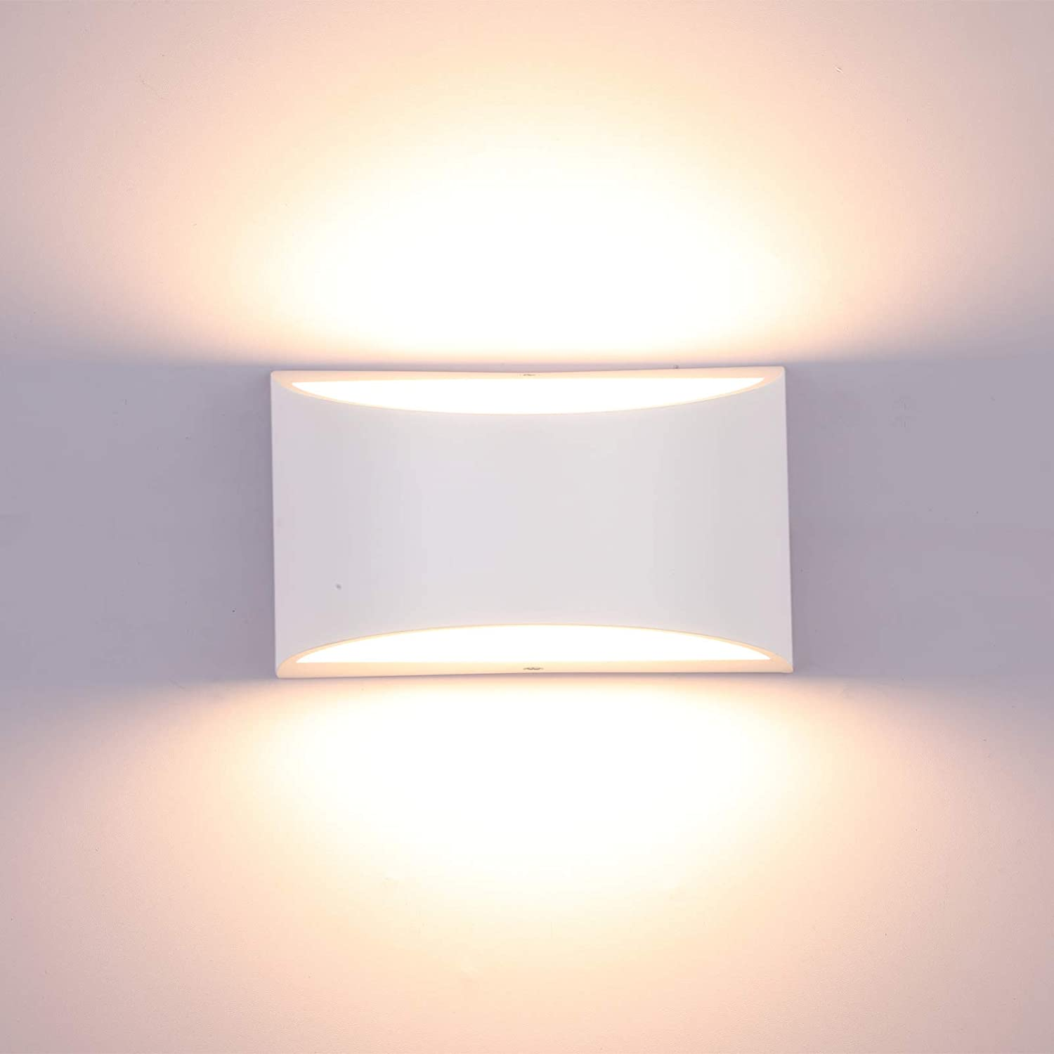 Lightess Dimmable Wall Sconces Modern LED Wall Lamp 10W Indoor Wall Sconce  Up Down Hallway Wall Mounted Light Fixtures for Bedroom Living Room, Warm