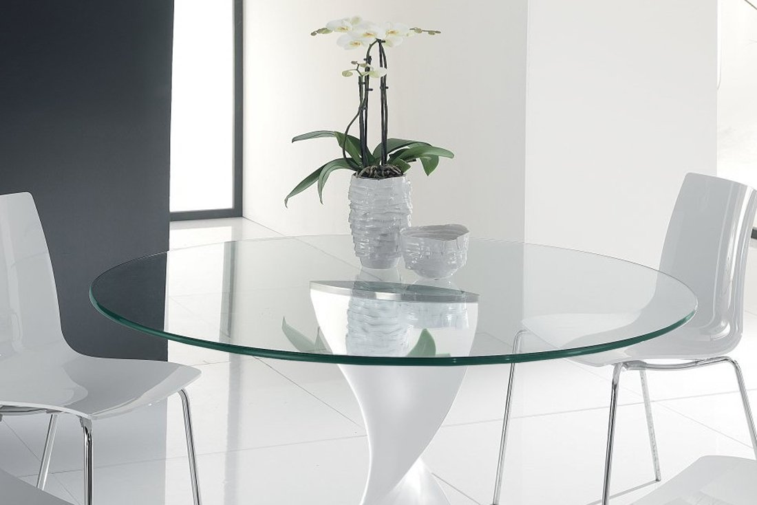 Round glass table tops - Amazon Com Glass Table Top 34 Round 3 8 Thick Pencil Edge Tempered Glass Home Kitchen