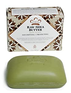 Bar Soap Raw Shea Butter, 5 oz Bar (4 Pack) by Nubian Heritage