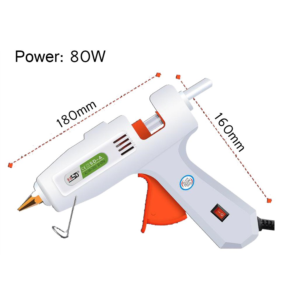 Hot Melt Glue Guns Universal Hot Melt Glue Guns Hot Melt Adhesives Small Processes and Quick Repairs for Home and Office (80W)