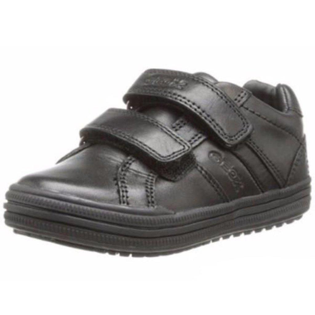 Geox JR Elvis Uniform Shoe (Toddler/Little Kid/Big Kid),Black,30 EU (12 M US Little Kid)
