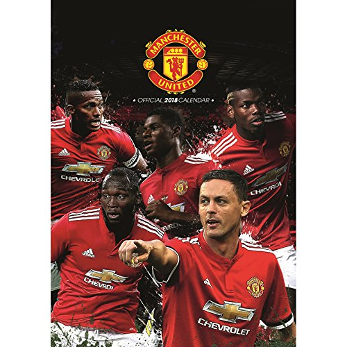 OFFICIAL MANCHESTER UNITED FC PREMIER LEAGUE 2018 WALL CALENDAR (11 INCHES x 17 INCHES) SHIPS FROM USA by Manchester United