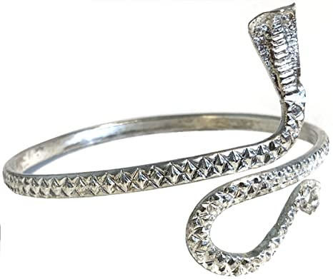 9aeb8ba62d7f4 Amazon.com: India Arts Unique Upper Arm Metal Bracelet Snake Armband Armlet  Anklet Bangle Silver Tone: Everything Else