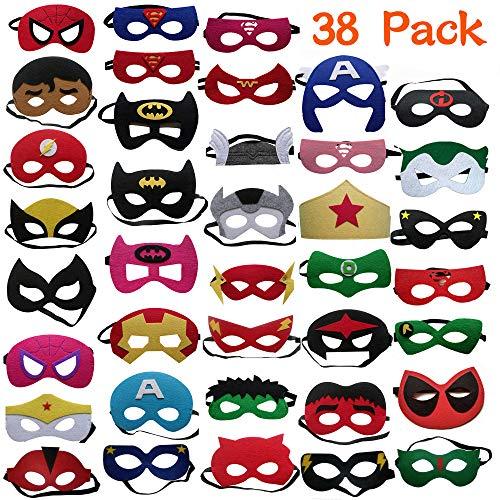 🥇 DREAMWIN 38 Piezas Máscaras de Superhéroe