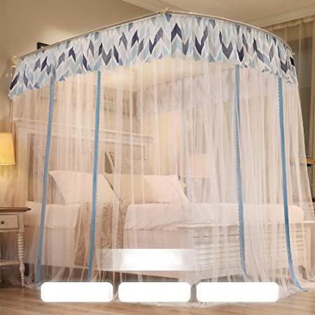 Mosquito bed net Large screen netting bed canopy circular curtain Home /& travel-Aqua 120x200cm Keeps away insects /& flies 47x79inch