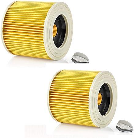 ReleMat SpareHome® 2 Filtros para aspiradores Karcher SE, WD1, WD2 y WD3-6.414 – 552.0/64145520: Amazon.es: Hogar