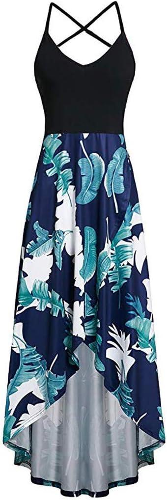 MERICAL damska moda swobodna sexy bez rękawÓw nadruk na plecach sukienka z wiązaniem na szyi: Odzież