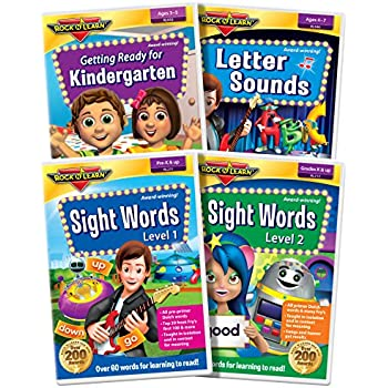 Preschool & Kindergarten DVD Collection: Letter Sounds, Sight Words, Getting Ready for Kindergarten
