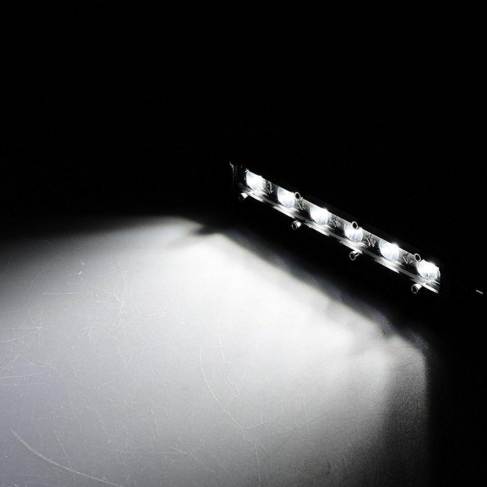 18W Barra LED Fuoristrada KAWELL Faro da Lavoro Fanalino Luce di inondazione Impermiable Luci diurne Trattore Rimorchio 12V 24V ATV Offroad Barca