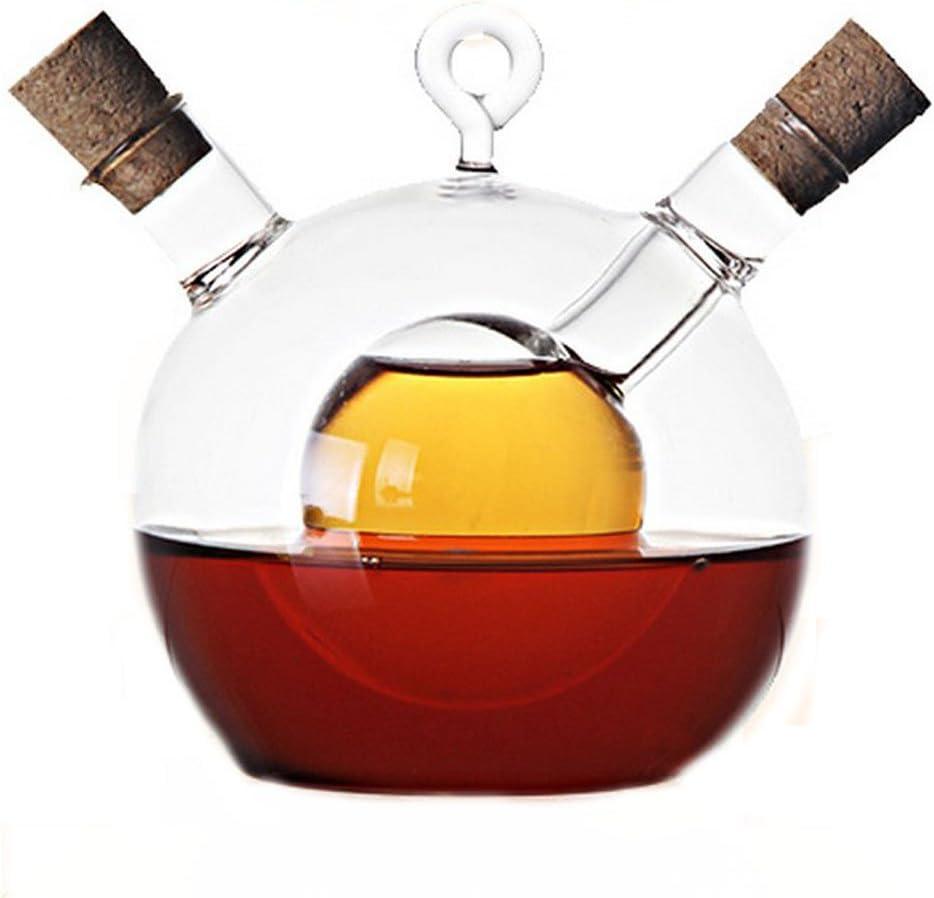 Glass Caster Oil and Vinegar Bottles of Soy Sauce Vinegar Bottle,Oil Vinegar Cruet in One