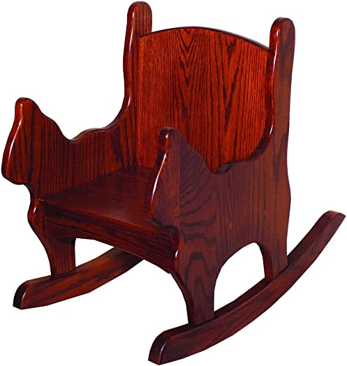 Furniture Barn USA Toddlers Oak Cat Shaped Chair Rocker