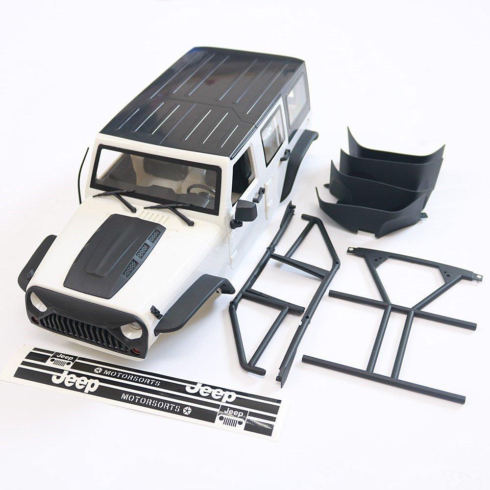 KYX Racing Jeep Hard Body w/Convertible Top for 1/10 RC Crawler SCX10 II 313mm Wheelbase Wrangler Body Shell