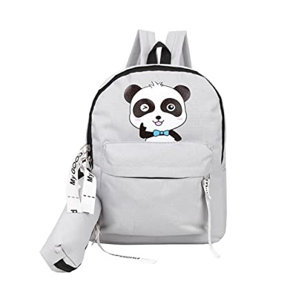 Image Unavailable. Image not available for. Color  LiPing Pure Naughty  Panda Kids backpack School Bag ... 3cd51cb7a37e5