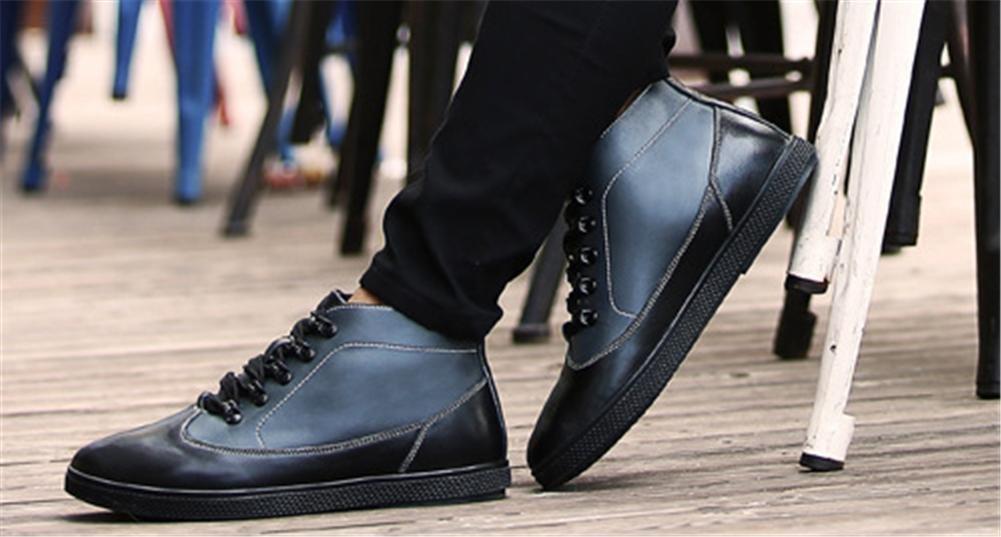 Herren kurze Desert Stiefel Stiefel Stiefel Leder Pelz gefüttert Casual Rubber Knöchel Kampf Martin schwarz weiß (Größe 39 bis 45) 007965