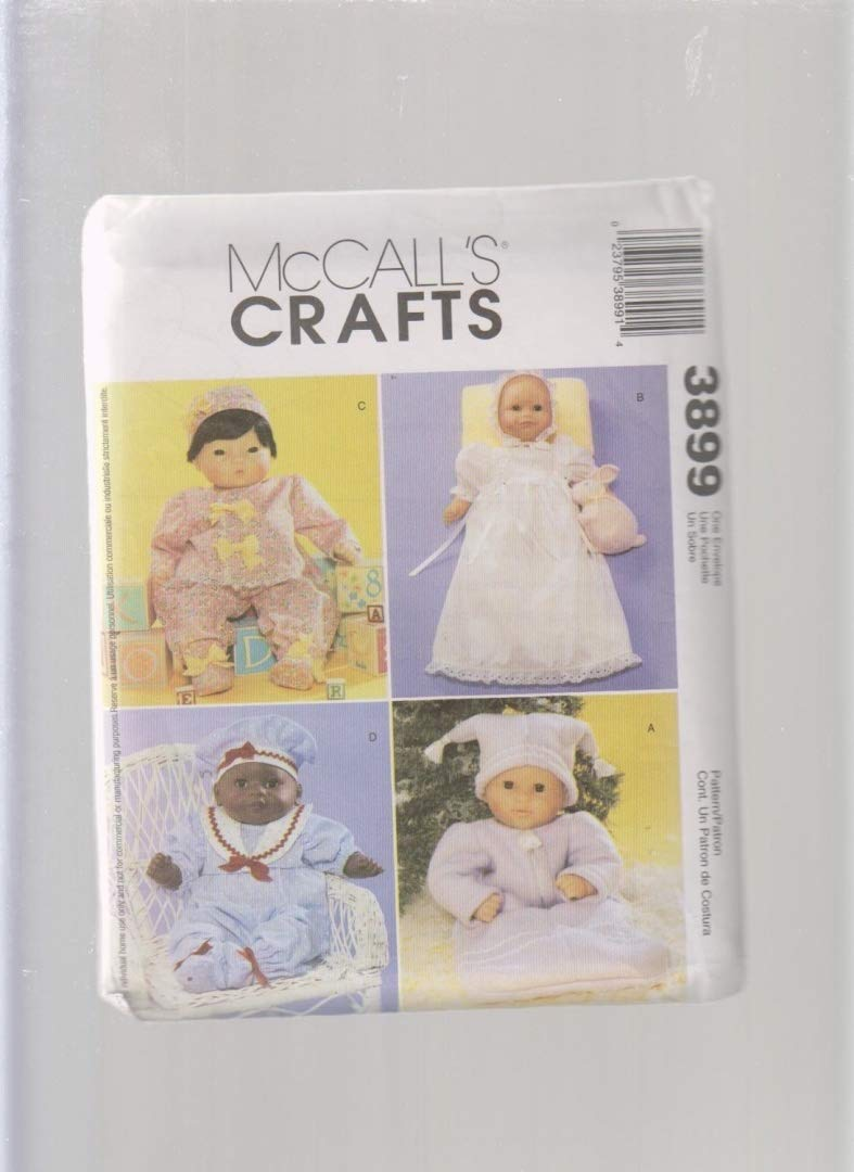Christening Gown Baby Doll Clothes Sewing Pattern 3899 ; Size 8 - 10, 11 - 13, 14 - 16 by McCall's Crafts   B005357MY4