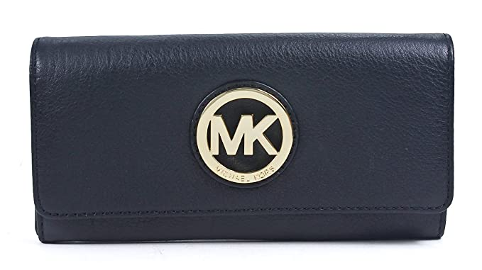 f7bc908edf3a Image Unavailable. Image not available for. Color  MICHAEL Michael Kors  Fulton Long Flap Continental Pebble Leather Wallet Black
