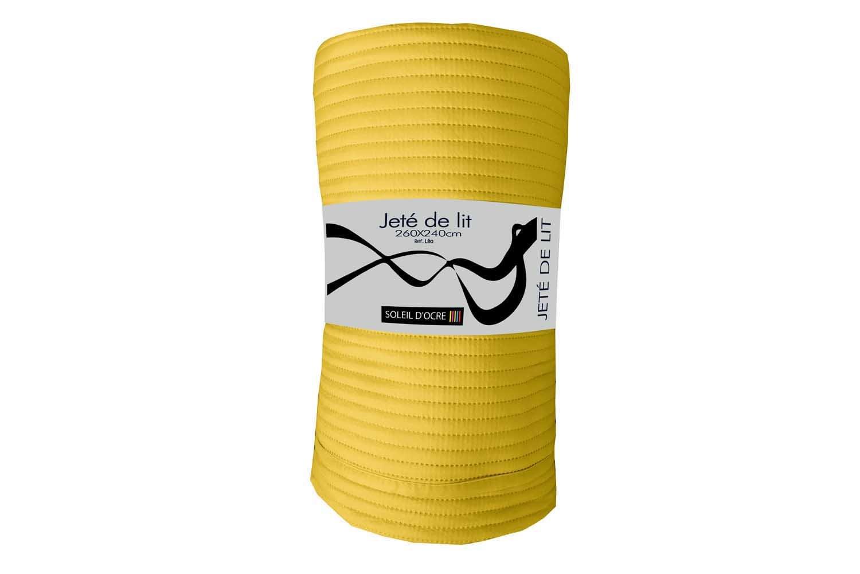 Polyester Soleil dOcre Leo Jet/Ã/© de lit 240x260 cm L/Ã/©o Jaune