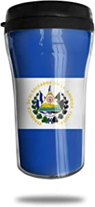CZJAHBL Flag of El Salvador Travel Coffee Mug Delicate Printing Portable Vacuum Cup,Food Grade Abs Insulated Cup Anti-Spill(8.8 Oz)