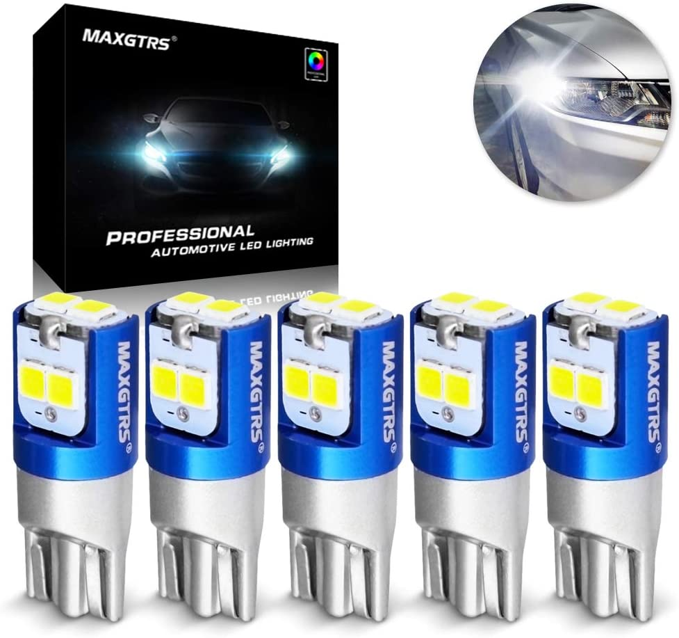 Error Free 10x T10 Super White 24SMD LED Lights Bulbs 194 168 175 W5W 2825 192