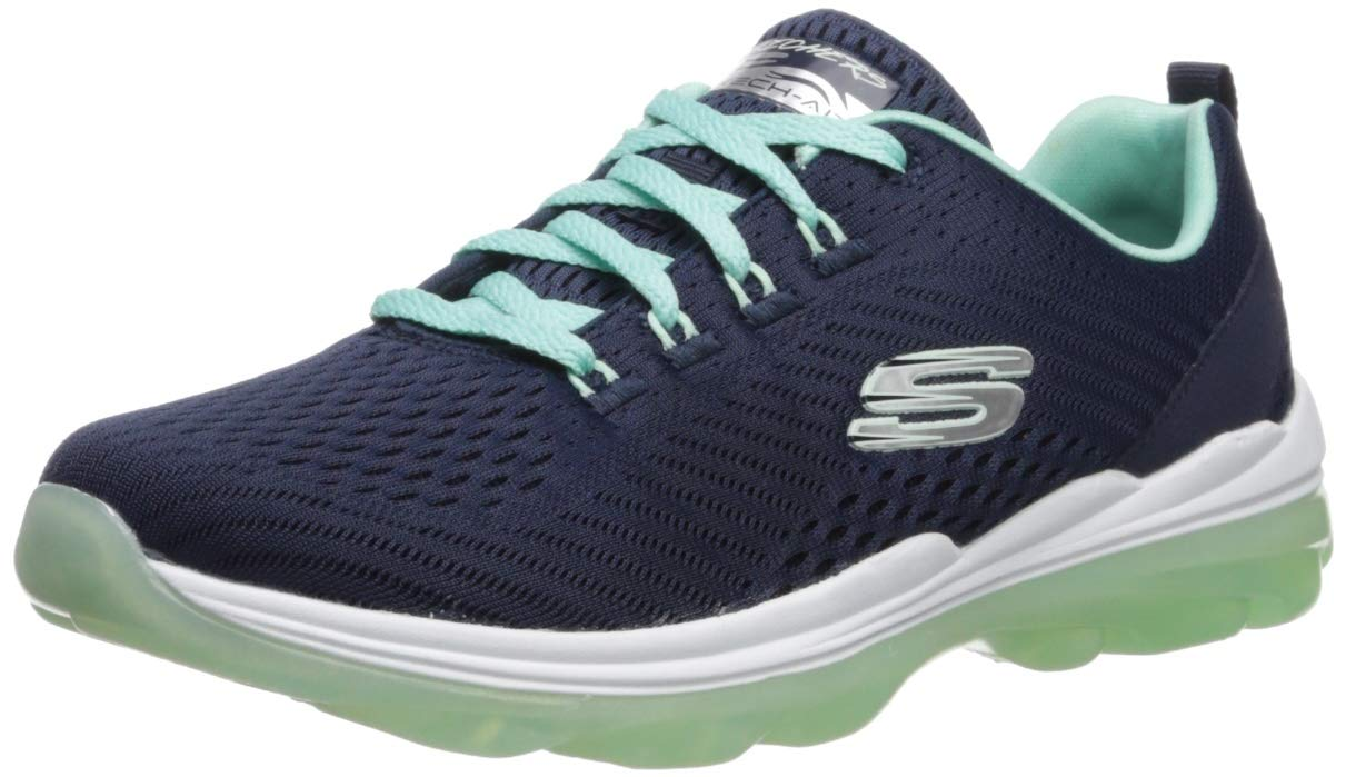 Skechers Women's Skech-AIR Deluxe-NIGHTTIDE Sneaker, Navy Aqua, 6.5 M US by Skechers