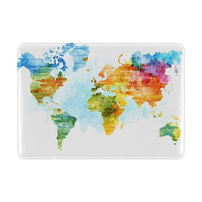 World Map Passport Holder.Amazon Com Cooper Girl Watercolor World Map Passport Cover Holder